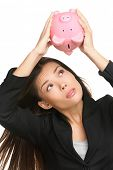 stock photo of piggy  - Empty piggy bank - JPG