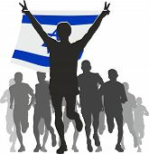 foto of israel people  - Illustration silhouettes of athletes - JPG
