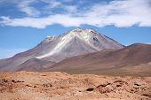 image of eduardo avaroa  - Ollague volcano in Atacama desert - JPG