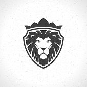 pic of leo  - Lion face logo emblem template for business or t - JPG