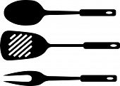 picture of ladle  - Vector illustration of a fork - JPG
