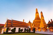 stock photo of south east asia  - Wat Arun Temple in Bangkok - JPG