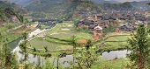 image of household farm  - Sanjiang Guangxi Province China  - JPG