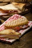 foto of churros  - Quick dinner toast with ham and cheese  - JPG