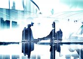 image of contract  - Business People Greeting Holding Hand Contract Teamwork Concept - JPG