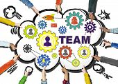 picture of gear  - Hand Connection Togetherness Gear Corporate Team Concept - JPG