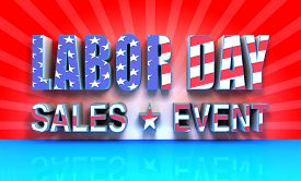pic of labor  - 3D rendered labor day sales event text with USA Flag effect great background for your labor day sale event promotions - JPG