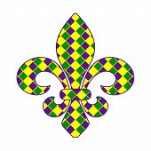 foto of fleur de lis  - Fleur de lis Mardi Gras design EPS 10 vector stock illustration - JPG