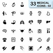 foto of mortuary  - Medical vector icons for mobile phone interface and web - JPG