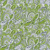 stock photo of teardrop  - colorful paisley seamless pattern - JPG