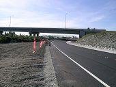 foto of burlington  - new road under a new bridge between mount vernon and burlington washington state usa - JPG