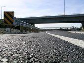 pic of burlington  - new road under a new bridge between mount vernon and burlington washington state usa - JPG