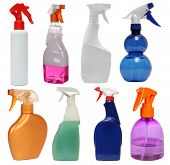stock photo of detergent  - cleaning equipment isolated on a white background - JPG