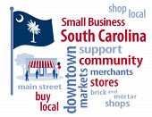 pic of local shop  - Small Business word cloud illustration - JPG