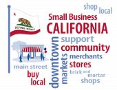 foto of local shop  - Small Business word cloud illustration - JPG