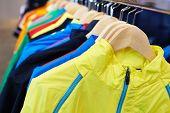 pic of sportswear  - Sportswear on a hanger in the store - JPG