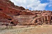 pic of petra jordan  - View of ancient amphitheater in Petra Jordan - JPG
