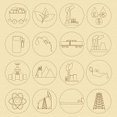 pic of fuel tanker  - Outline icon set Fuel and energyl - JPG