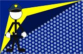 stock photo of police  - police man pictogram cartoon background in vector format very easy to edit - JPG
