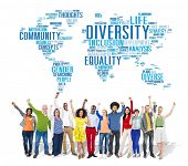 foto of racial diversity  - Diversity Ethnicity World Global Community Concept - JPG