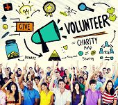 foto of charity relief work  - Volunteer Charity Help Sharing Giving Donate Assisting Concept - JPG