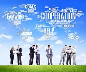 stock photo of coworkers  - Cooperation Business Coworker Planning Teamwork Concept - JPG