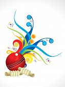 image of cricket shots  - abstract artistic colorful cricket explode vector illustration - JPG