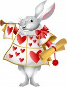 image of alice wonderland  - My cartoon version of the white rabbit from Alice in Wonderland - JPG