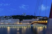 Постер, плакат: Lyon By Saone River In France