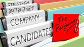 Постер, плакат: Files on top performer candidates for a company position
