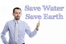 picture of water-saving  - Save Water Save Earth  - JPG